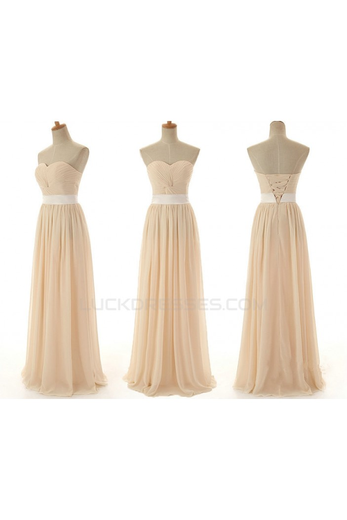 A-Line Sweetheart Long Chiffon Bridesmaid Dresses/Wedding Party Dresses BD010392