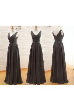 A-Line Long Chiffon Bridesmaid Dresses/Wedding Party Dresses BD010395