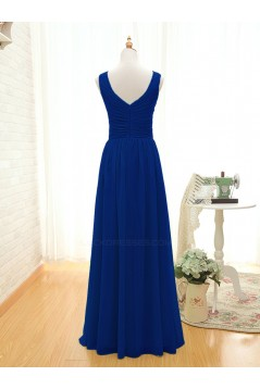 A-Line Long Royal Blue Chiffon Bridesmaid Dresses/Wedding Party Dresses BD010396