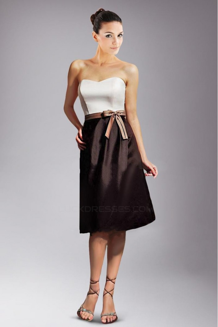 A-Line Strapless Knee-Length Bridesmaid Dresses/Wedding Party Dresses BD010401