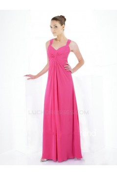 Sheath/Column Chiffon Floor-Length Bridesmaid Dresses/Wedding Party Dresses BD010406