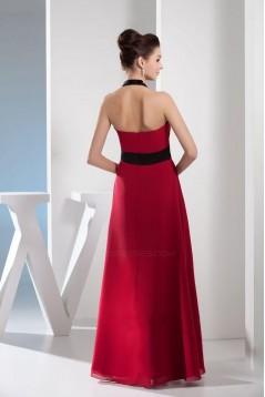 A-Line Halter Floor-Length Chiffon Bridesmaid Dresses/Wedding Party Dresses BD010408