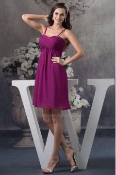 Empire Spaghetti Strap Short Chiffon Bridesmaid Dresses/Wedding Party Dresses/Maternity Dresses BD010409