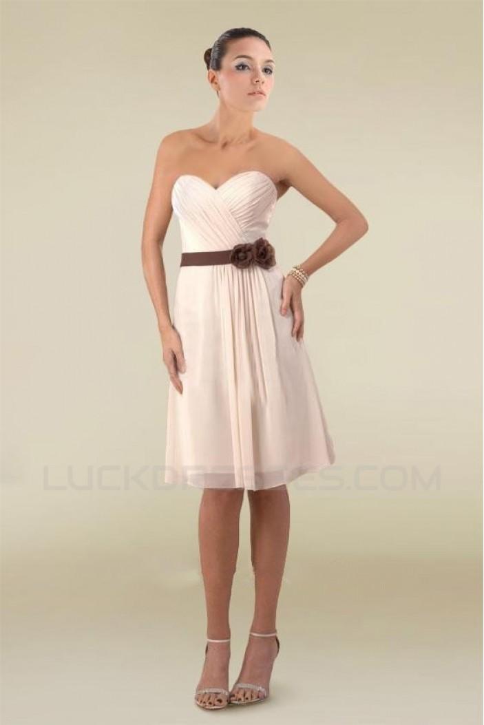 A-Line Sweetheart Knee-Length Bridesmaid Dresses/Wedding Party Dresses BD010411