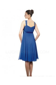 Empire Royal Blue Chiffon Knee-Length Bridesmaid Dresses/Wedding Party Dresses/Maternity Dresses BD010414