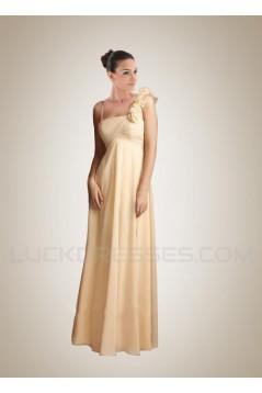 Empire Yellow Chiffon Floor-Length Bridesmaid Dresses/Wedding Party Dresses/Maternity Dresses BD010415