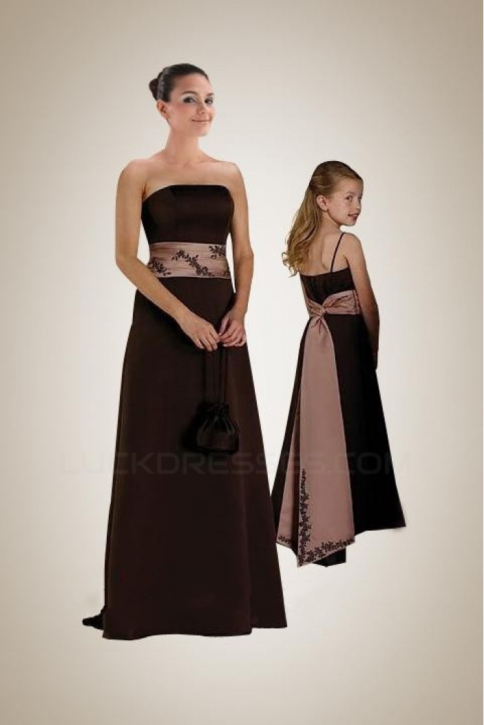 A-Line Strapless Floor-Length Bridesmaid Dresses/Wedding Party Dresses BD010419