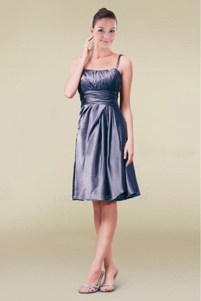 A-Line Spaghetti Strap Knee-Length Bridesmaid Dresses/Wedding Party Dresses BD010420