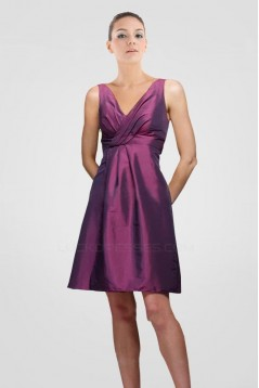 A-Line V-Neck Short Taffeta Bridesmaid Dresses/Wedding Party Dresses BD010427