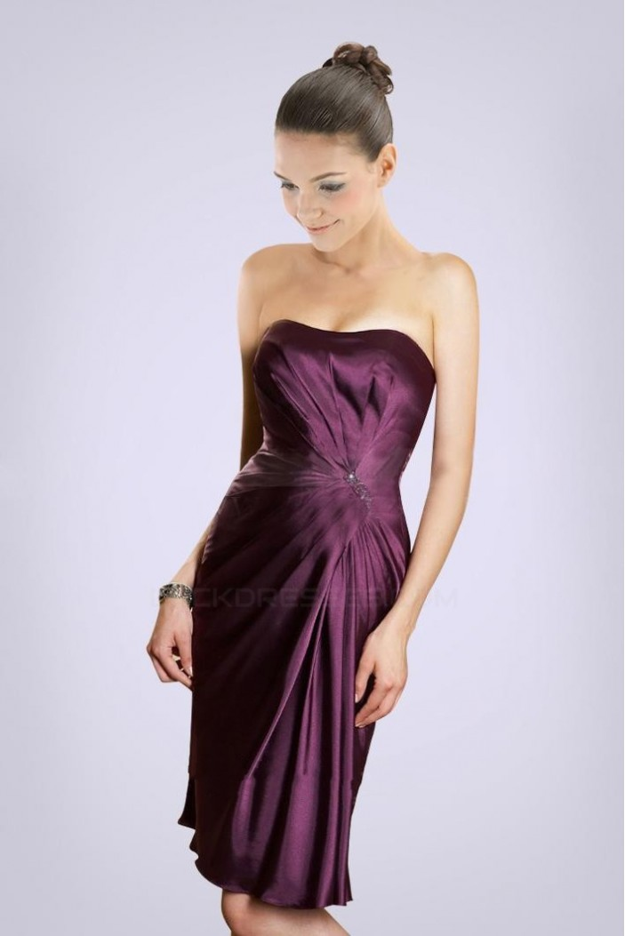 Short/Mini Strapless Bridesmaid Dresses/Wedding Party Dresses BD010431