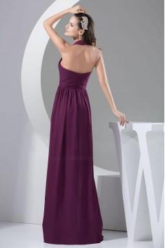 A-Line Halter Floor-Length Chiffon Bridesmaid Dresses/Wedding Party Dresses BD010437