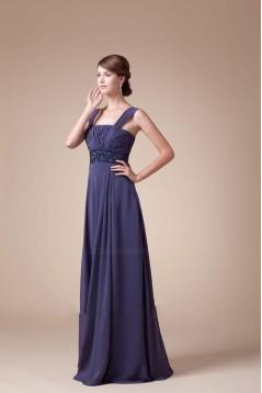 A-Line Beaded Floor-Length Chiffon Bridesmaid Dresses/Wedding Party Dresses BD010441