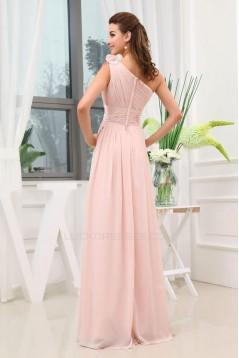 A-Line One-Shoulder Floor-Length Chiffon Bridesmaid Dresses/Wedding Party Dresses BD010445
