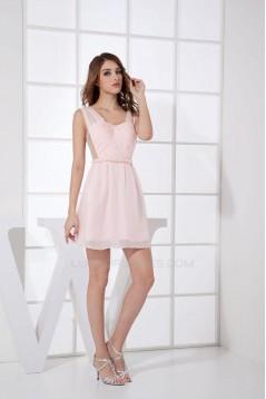 A-Line Short Chiffon Bridesmaid Dresses/Wedding Party Dresses BD010449