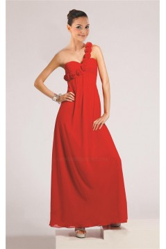 Empire One-Shoulder Floor-Length Chiffon Bridesmaid Dresses/Wedding Party Dresses/Maternity Dresses BD010457