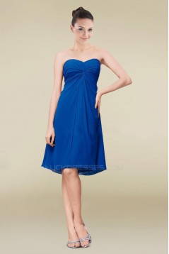 Empire Sweetheart Royal Blue Short Chiffon Bridesmaid Dresses/Wedding Party Dresses/Maternity Dresses BD010459