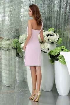 Short One-Shoulder Chiffon Bridesmaid Dresses/Wedding Party Dresses BD010461