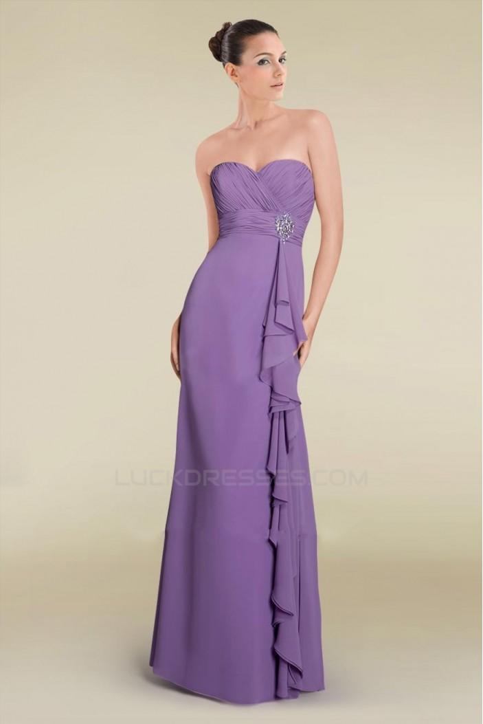 Sheath/Column Sweetheart Floor-Length Chiffon Bridesmaid Dresses/Wedding Party Dresses BD010463