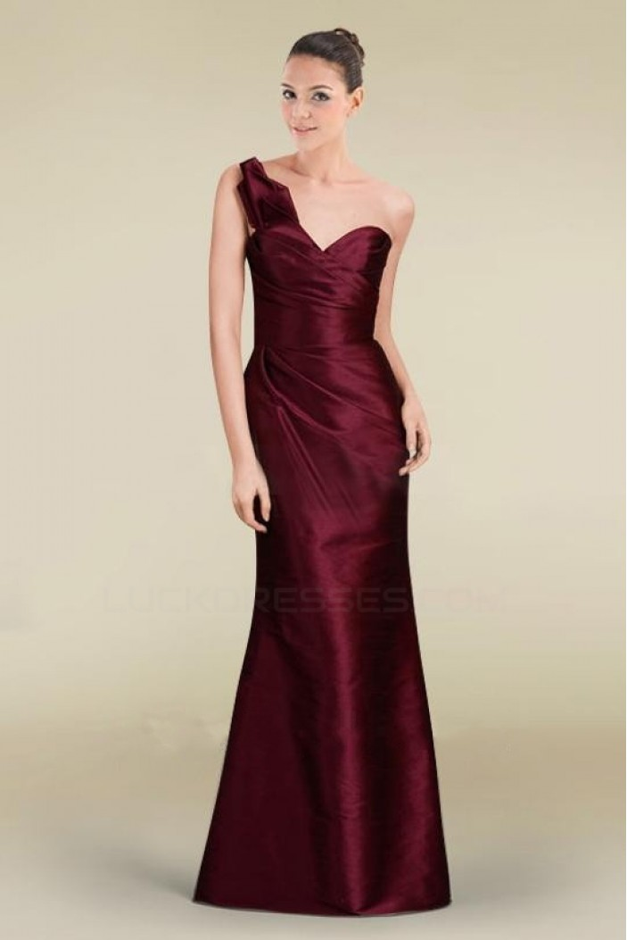 Trumpet/Mermaid One-Shoulder Floor-Length Bridesmaid Dresses/Wedding Party Dresses BD010472