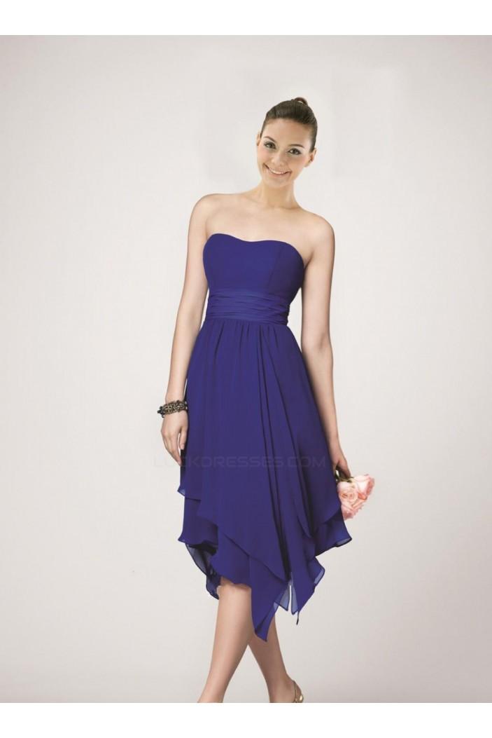 A-Line Strapless Short Chiffon Bridesmaid Dresses/Wedding Party Dresses BD010474