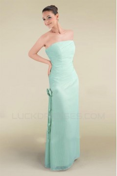 Sheath Strapless Floor-Length Bridesmaid Dresses/Wedding Party Dresses BD010475
