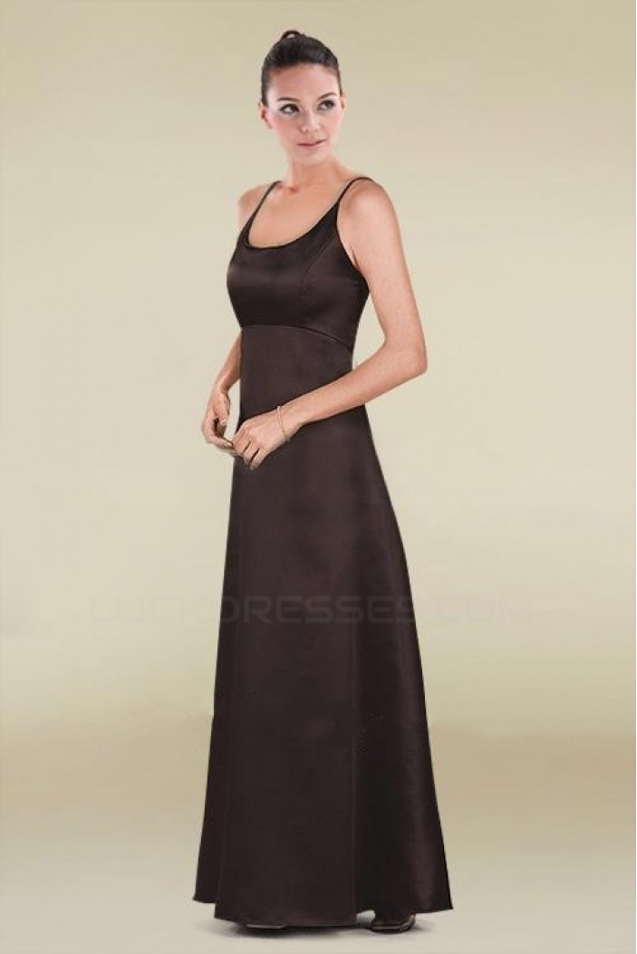 A-Line Spaghetti Strap Floor-Length Bridesmaid Dresses/Wedding Party Dresses BD010476