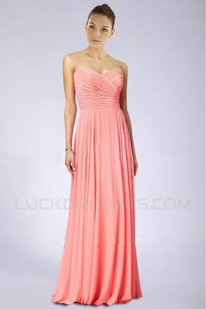 Sheath/Column Sweetheart Chiffon Floor-Length Bridesmaid Dresses/Wedding Party Dresses BD010478
