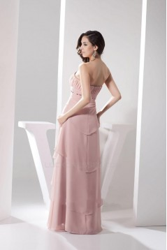 A-Line Strapless Chiffon Floor-Length Bridesmaid Dresses/Wedding Party Dresses BD010482