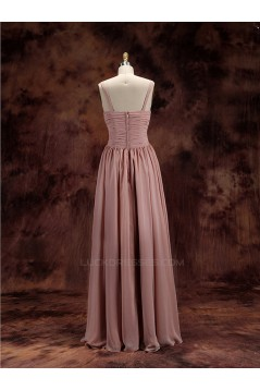 A-Line V-Neck Floor-Length Chiffon Bridesmaid Dresses/Wedding Party Dresses BD010487