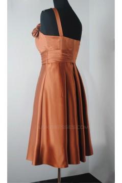 A-Line Spaghetti Strap Short Bridesmaid Dresses/Wedding Party Dresses BD010490