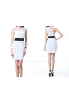 Short/Mini One-Shoulder Chiffon Bridesmaid Dresses/Wedding Party Dresses BD010493