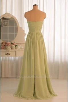 A-Line Sweetheart Long Chiffon Bridesmaid Dresses/Evening Dresses BD010494