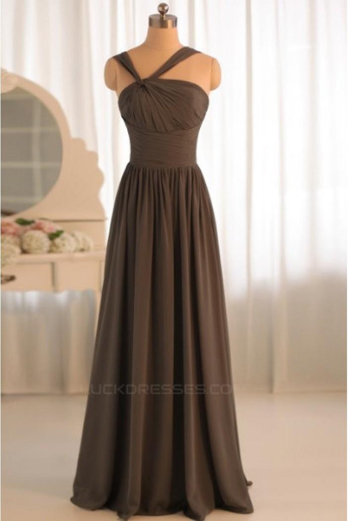 A-Line Floor-Length Chiffon Bridesmaid Dresses/Evening Dresses BD010496