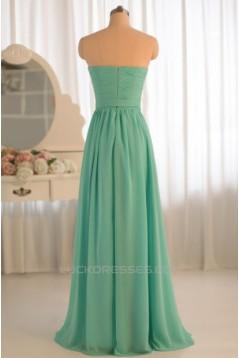 A-Line Sweetheart Chiffon Floor-Length Bridesmaid Dresses/Wedding Party Dresses BD010498