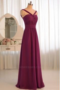A-Line Chiffon Floor-Length Bridesmaid Dresses/Wedding Party Dresses BD010499