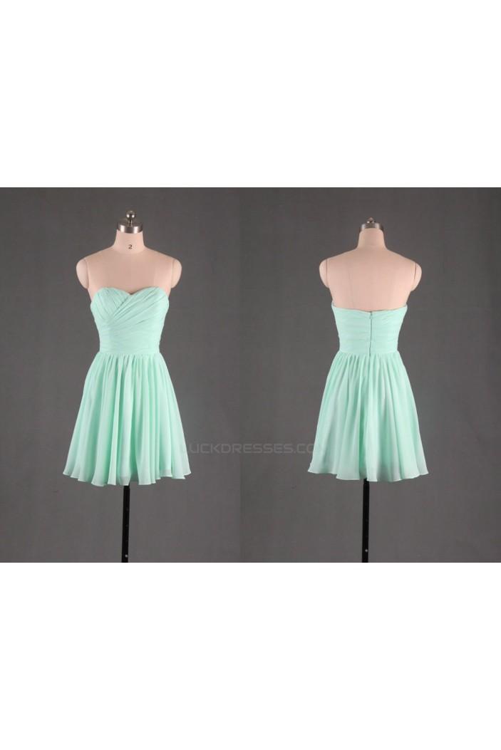 A-Line Sweetheart Short Chiffon Bridesmaid Dresses/Evening Dresses BD010502