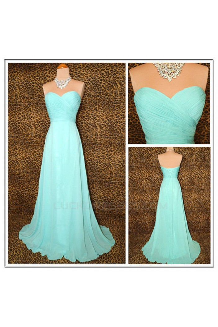A-Line Sweetheart Long Chiffon Bridesmaid Dresses/Evening Dresses BD010503