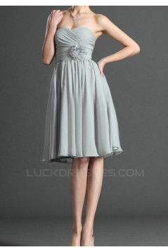 A-Line Sweetheart Short Chiffon Bridesmaid Dresses/Evening Dresses BD010507