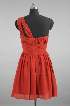 A-Line One-Shoulder Short Chiffon Bridesmaid Dresses/Evening Dresses BD010510