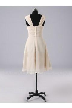 A-Line Short Chiffon Bridesmaid Dresses/Evening Dresses BD010512