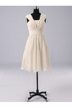 A-Line Short Chiffon Bridesmaid Dresses/Evening Dresses BD010512