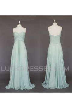 A-Line Sweetheart Long Chiffon Bridesmaid Dresses/Evening Dresses BD010518