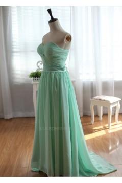 A-Line Sweetheart Long Chiffon Bridesmaid Dresses/Evening Dresses BD010523