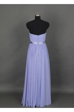 A-Line Sweetheart Long Chiffon Bridesmaid Dresses/Evening Dresses BD010524