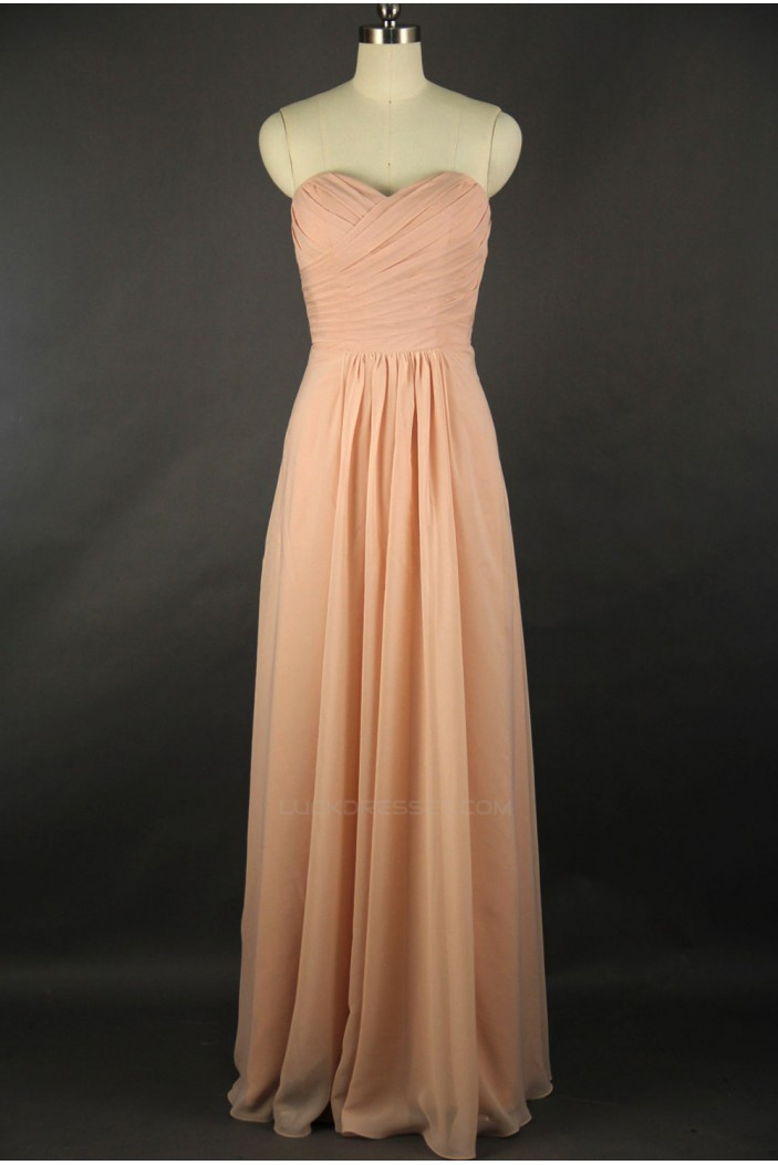 A-Line Sweetheart Long Chiffon Bridesmaid Dresses/Evening Dresses BD010529