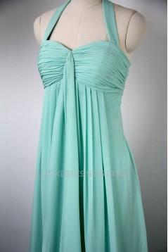 Empire Halter Long Blue Chiffon Bridesmaid Dresses/Evening Dresses/Maternity Dresses BD010534