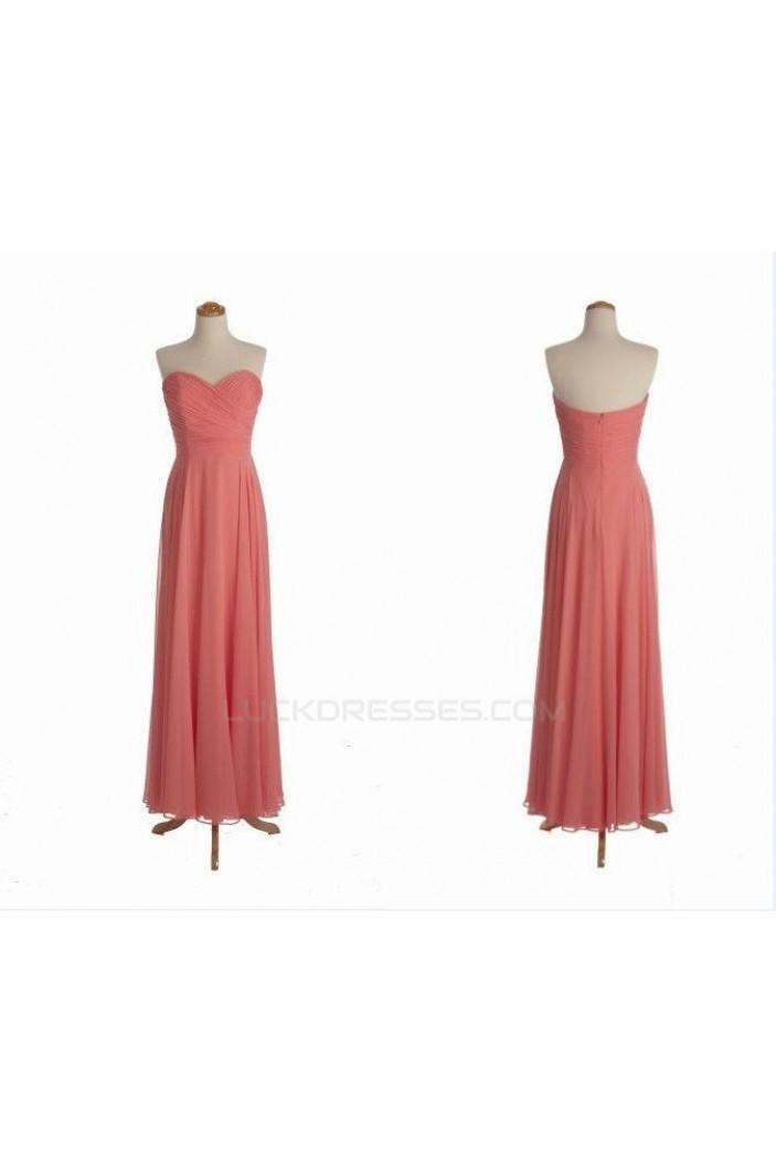 A-Line Sweetheart Long Chiffon Bridesmaid Dresses/Evening Dresses BD010541