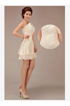 A-Line One-Shoulder Short Chiffon Bridesmaid Dresses/Evening Dresses BD010546