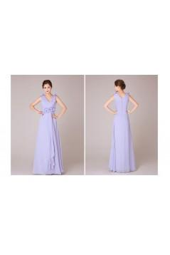 A-Line V-Neck Long Chiffon Bridesmaid Dresses/Evening Dresses BD010551