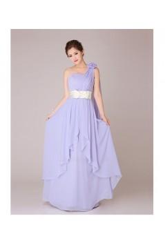A-Line One-Shoulder Long Chiffon Bridesmaid Dresses/Evening Dresses BD010553